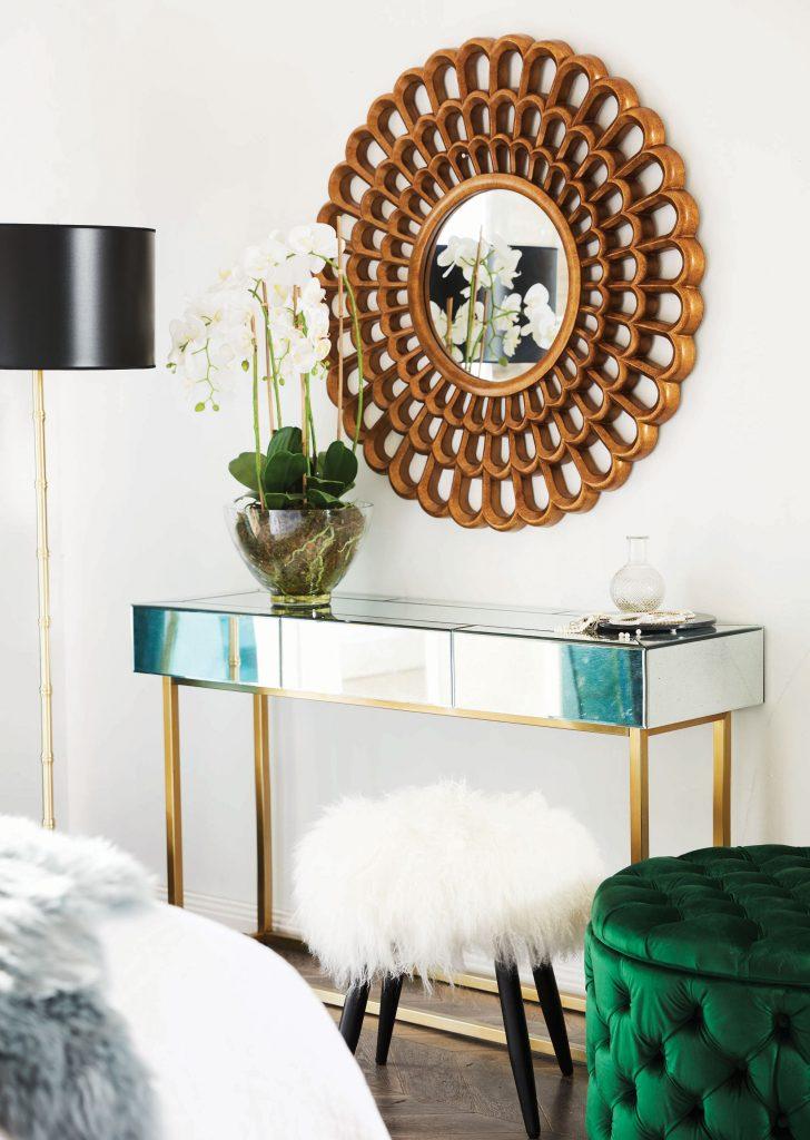 Statement mirror in your bedroom