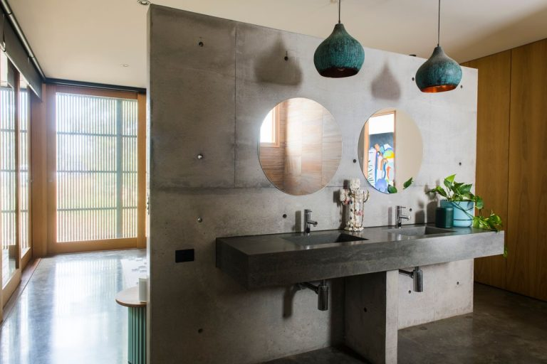 Softer wall treatments are making their way into our bathrooms. Picture: Eugene Hyland