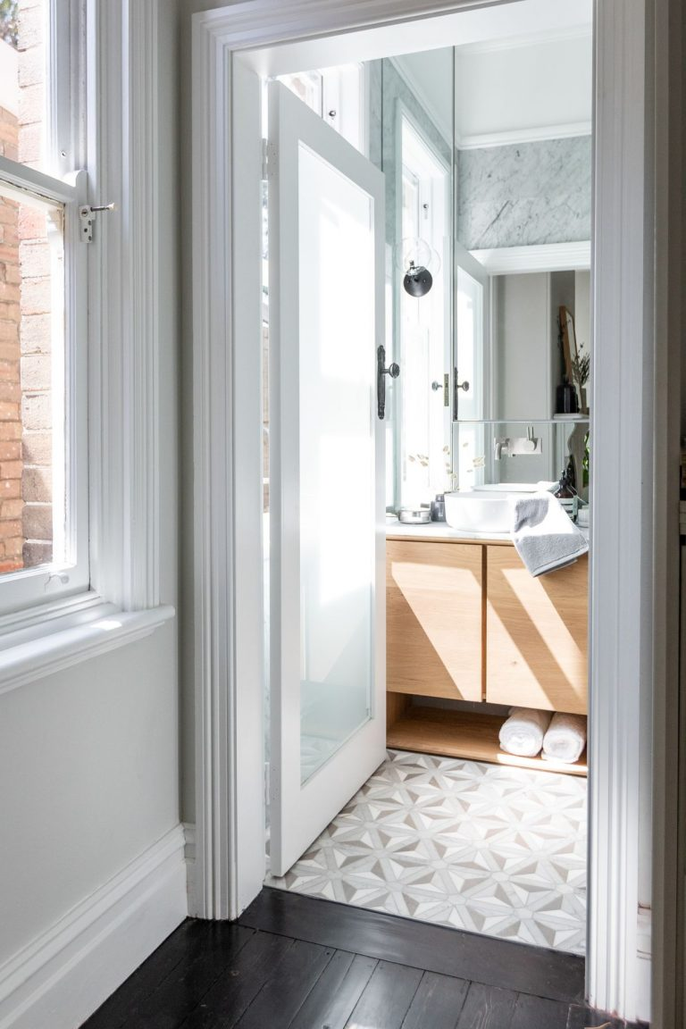 Patterns will continue to be big in bathrooms in 2020. Picture: Caroline McCredie