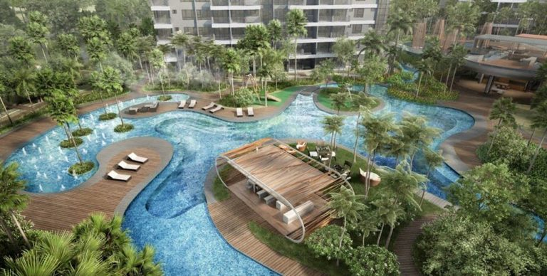 Swimming pool in High Park Residences condo in Singapore