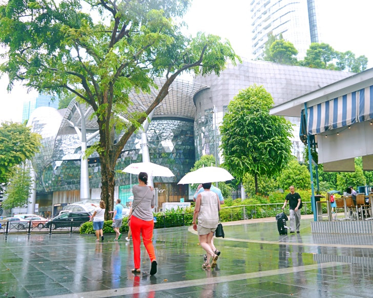 Tourists seen on Orchard Road, Singapore shopping district. Photo: Khalil Adis Consultancy.