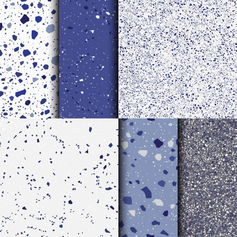 Few of us were bold enough to try coloured terrazzo. Picture: Getty
