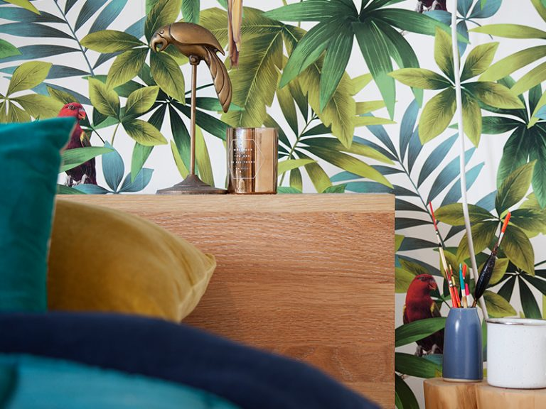 Loud wallpaper is not for the faint-hearted. Picture: Tamara Graham