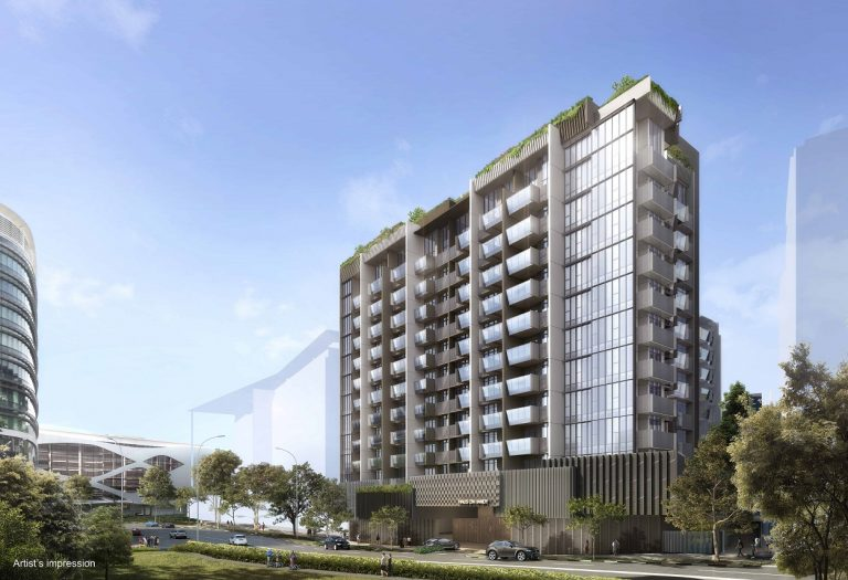 artist impression of haus on handy condo located along handy road singapore