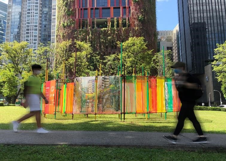A-Maze installation at Tanjong Pagar