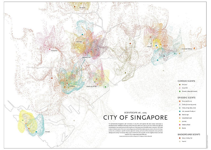 A scent map of Singapore