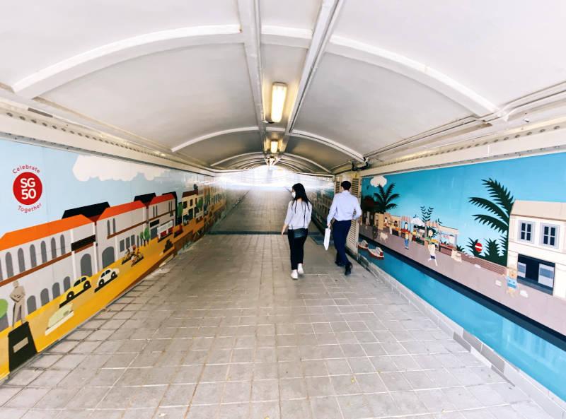 Singapore River underpass murals
