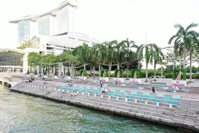 Designing for Distancing at Marina Bay