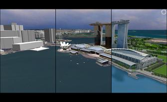 URA 3D model of Marina Bay